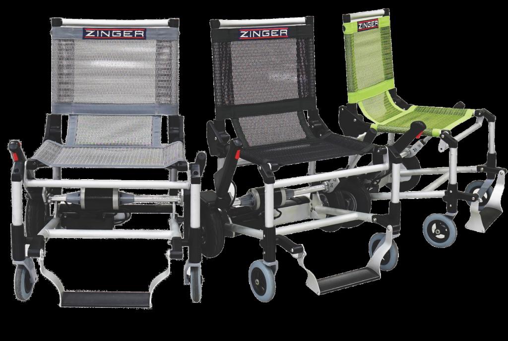 Zinger elektrische rolstoel vouwbaar in 3 kleuren